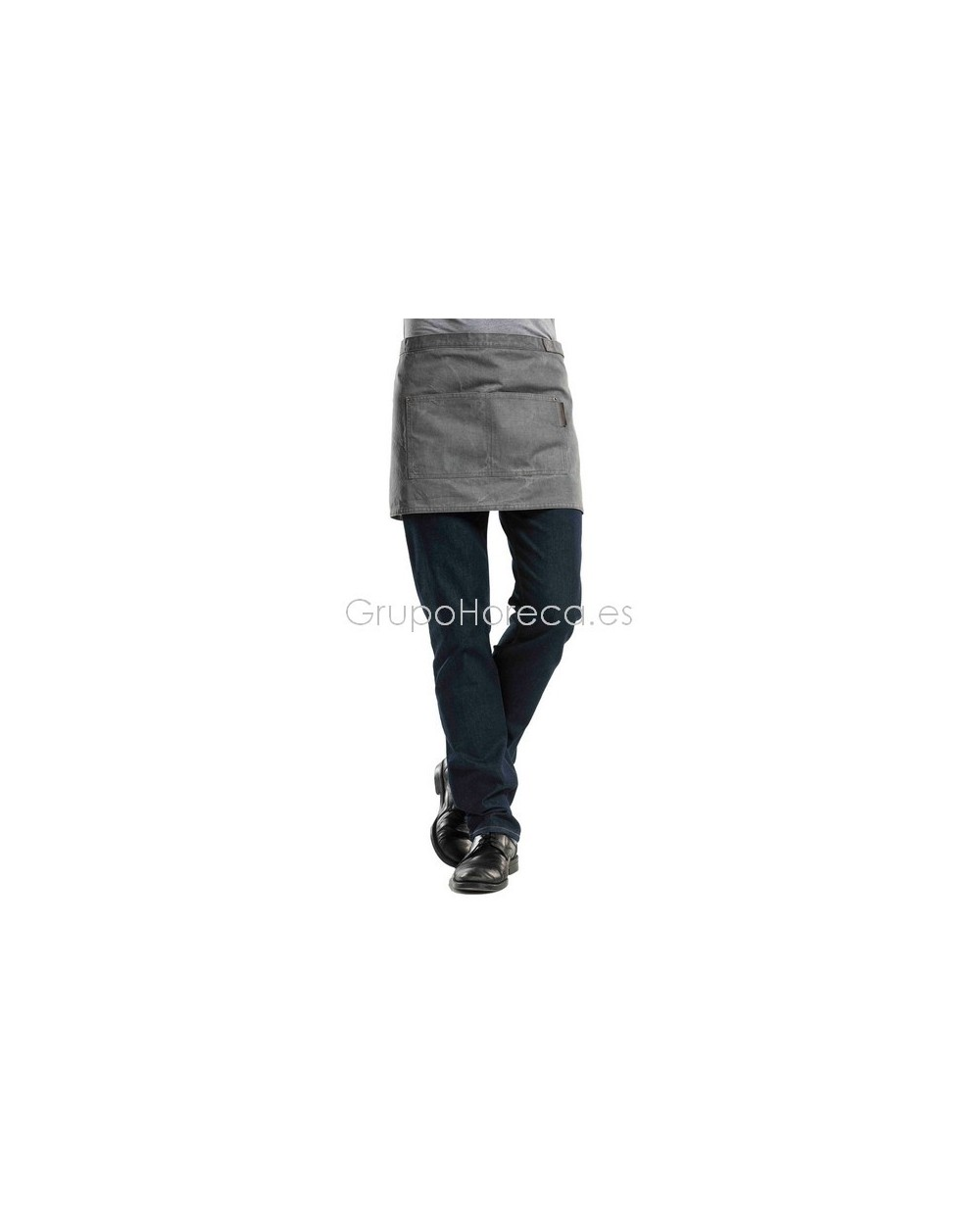 Delantal sin Peto Grey Denim 2 Bolsillos Chaund Devant