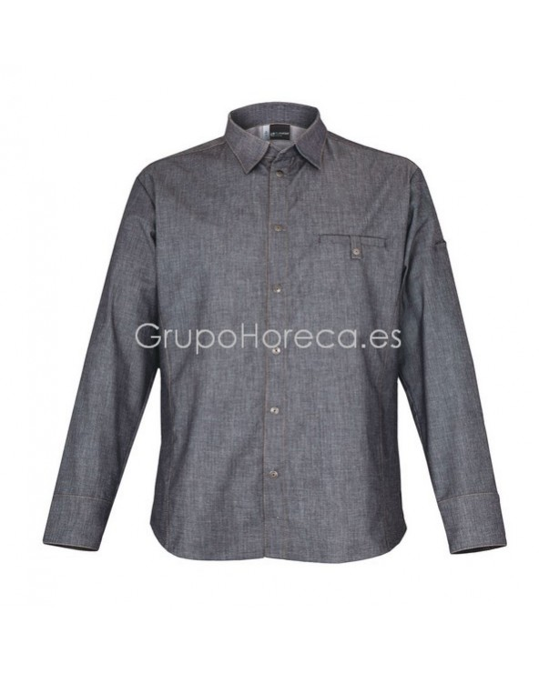 Chaquetilla Chef Denim Yuma Manga Larga CLEMENT