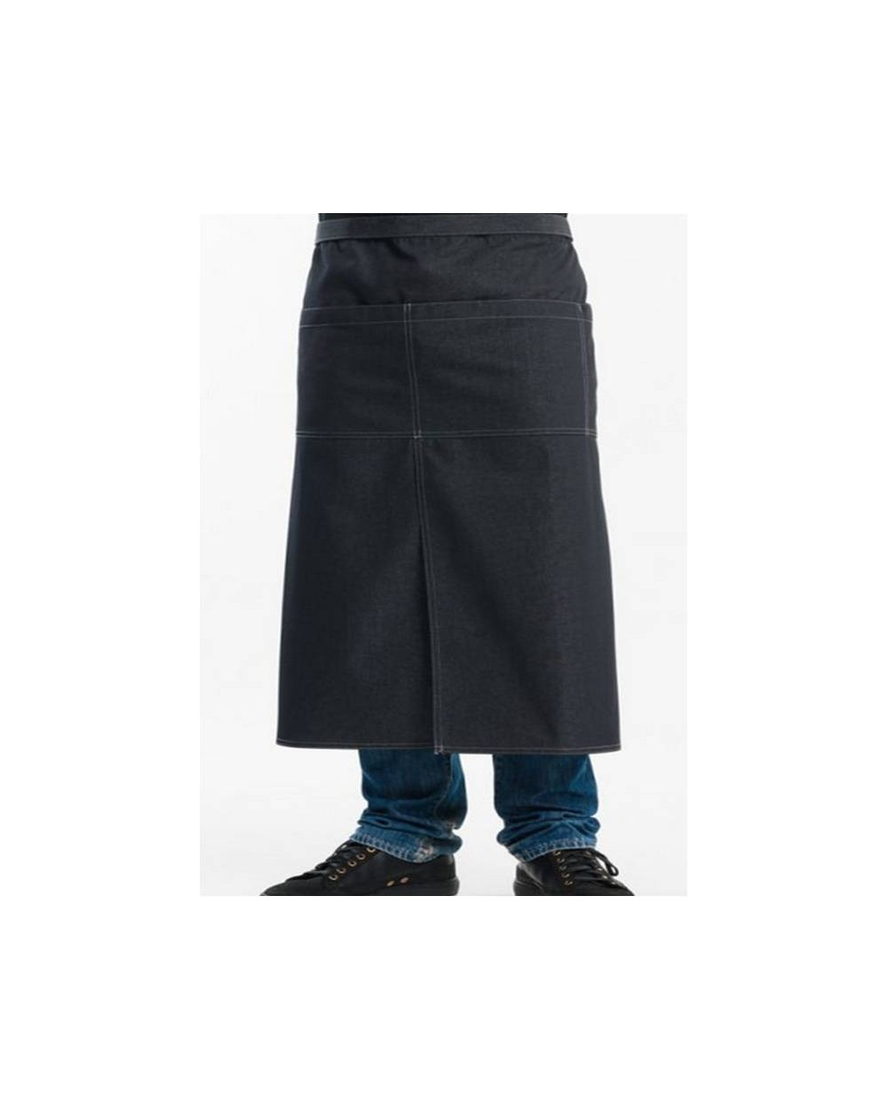 Delantal sin Peto 4 Pockets Black Denim Chaud Devant